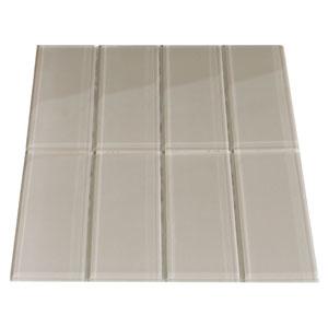 Taupe Glass Subway Tile