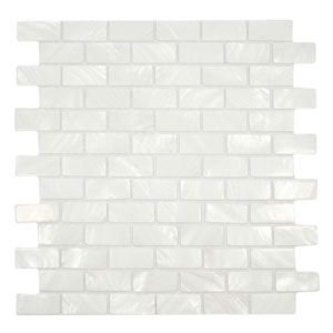 White 1x2 Pearl Shell Tile