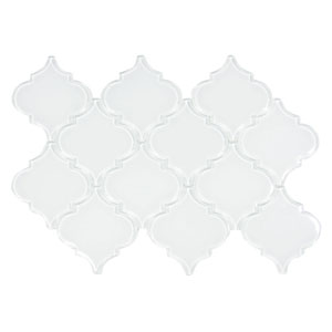 White Arabesque Glass Tile