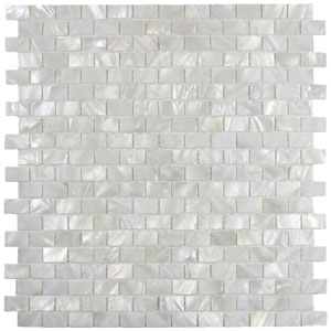 White Brick Pearl Shell Tile
