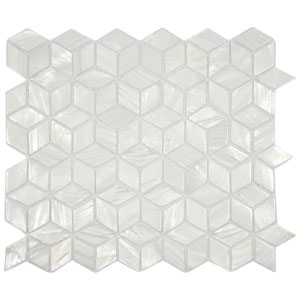 White Cube Pearl Shell Tile