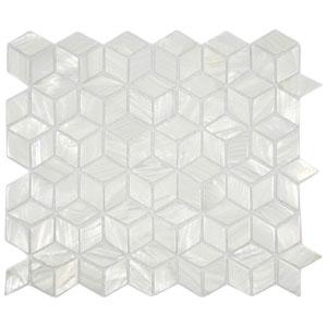 White Cube Pearl Shell Tile