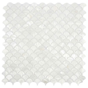 White Fish Scale Pearl Shell Tile