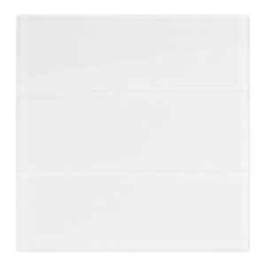 "White Glass 4"" x 12"" Subway Tile"