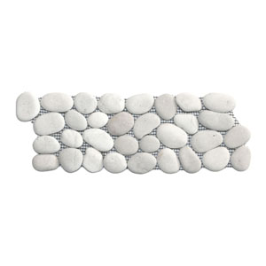 White Pebble Tile Border