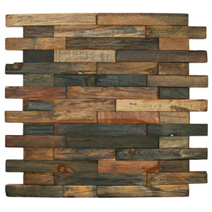 Reclaimed Boat Wood Tile - Interlocking Bricks
