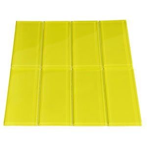 Yellow Glass Subway Tile
