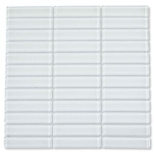 White Glass 1x4 Subway Tile