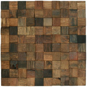 "Reclaimed Boat Wood Tile 1.25"" x 1.25"""